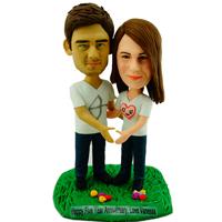 custom made bobblehead anniversary couple