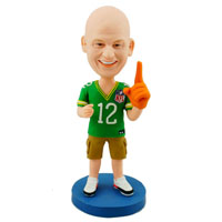 custom made bobblehead football fan