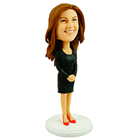 custom bobblehead office lady