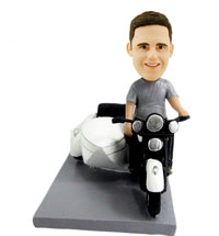 custom motor cyclist bobbleheads