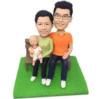 custom made bobblehead new family
