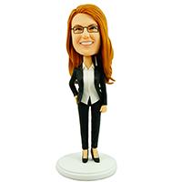 custom bobblehead slim office lady
