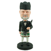 Custom Made Bobblehead Bagpiper