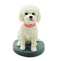 custom made bobblehead dog - bichon-frisé