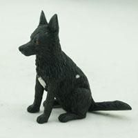 custom made bobblehead dog - black-german-shepherd