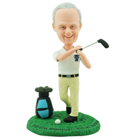 custom made bobblehead golf player