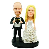 custom made bobblehead batman groom