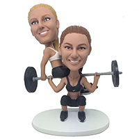 custom bobblehead weightlifting female