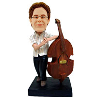 custom string bass player bobblehead