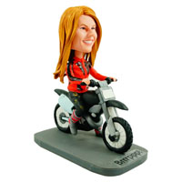 custom made female bobblehead motorcyclist