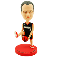 custom made bobblehead basketball cross-leg dribble