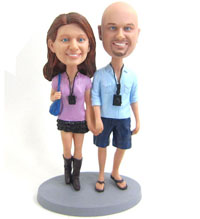 custom camera couple bobbleheads