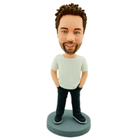 custom made bobblehead casual guy
