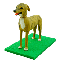 custom made bobblehead dog - doberman pinscher