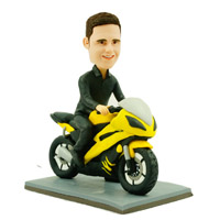 custom made bobblehead motorcyclist