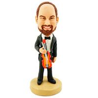 Custom Made Bobblehead Violinist