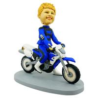 custom made bobblehead motorcycling