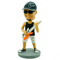 custom made bobblehead guitar player