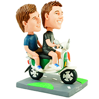 custom bobblehead scooter couple