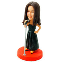 Custom Made Bobblehead Singing Girl