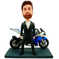 custom bobblehead motorcyclist