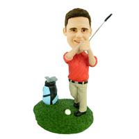 Golfer Custom Bobblehead
