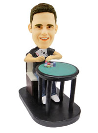 Poker Player Custom Bobble Head