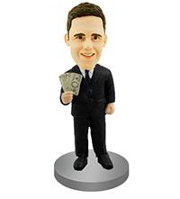 Rich Man Custom Bobble Head