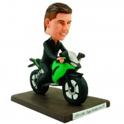 charming personalised motorcyclist bobblehead