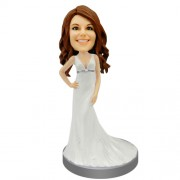 Bridesmaid Personalized Bobble Head #04