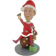 custom christmas bobblehead with gift