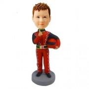 custom racing boy bobblehead