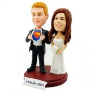 Superman Couple Personalized Bobblehead