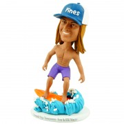custom surfing male bobblehead