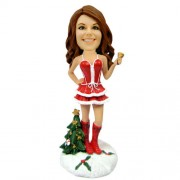 customized christmas bobble head sexy woman ringing bell