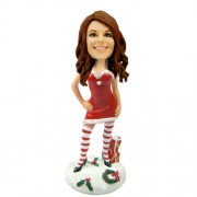 customized christmas bobble head sexy woman with gift