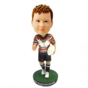 customized rugby boy bobblehead