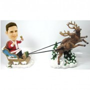 Christmas Male with reingeer and sled