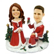 personalised christmas bobble head marry me