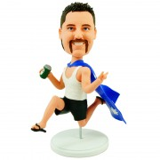 personalised funny man in the national flag bobblehead