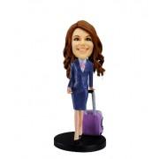 customized bobblehead airline stewardess