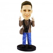 tourist custom bobble head