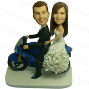 Motorcycle Custom Wedding Bobblehead #58